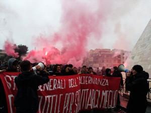 """Roma. Corteo studentesco contro gli """"Stati Generali dell'Alternanza Scola-Lavoro"""""""